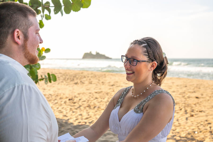 Wedding at Cocles Beach (Puerto Viejo, Costa Rica)